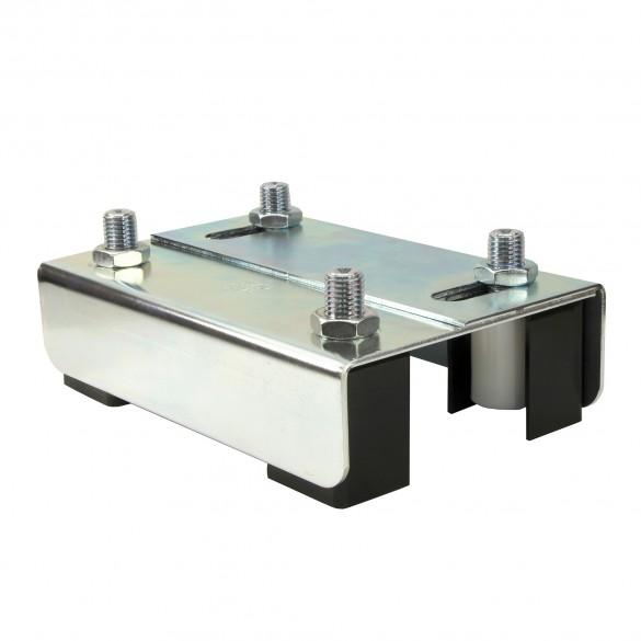 "DuraGates Adjustable Guiding Plate 255-220 (Steel) For Up To 2 3/8"" Gate Frames - Cantilever Sliding Gate Hardware"