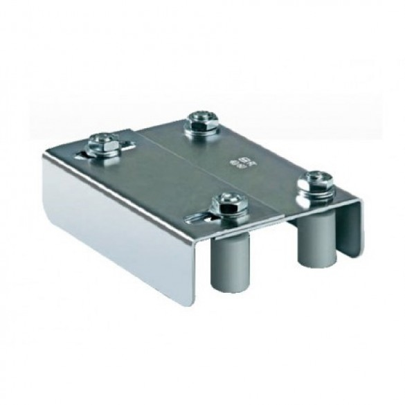 "DuraGates Adjustable Guiding Plate 255-350 (Steel) For Up To 3 3/8"" Gate Frames - Cantilever Sliding Gate Hardware"