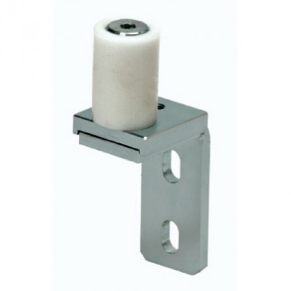 "DuraGates Side Mount Adjustable Roller Guide, 1 1/2"" Single Nylon Roller CG-252 - Cantilever Sliding Gate Hardware"