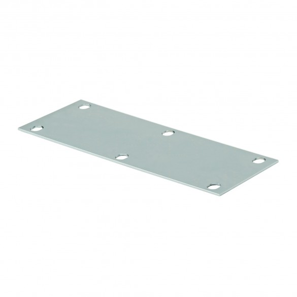 "DuraGates 6"" x 12"" Heavy-Duty Foundation Plate CG-05P (Steel) For Medium/Large Carriages - Cantilever Sliding Gate Hardware"