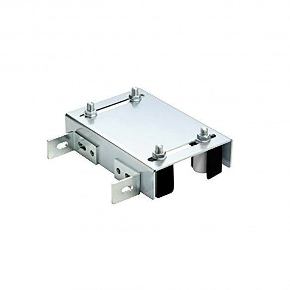 """DuraGates Adjustable Guiding Plate CGI-251 (Stainless Steel) For Up To 4 3/8"""" Gate Frames - Cantilever Sliding Gate Hardware"""
