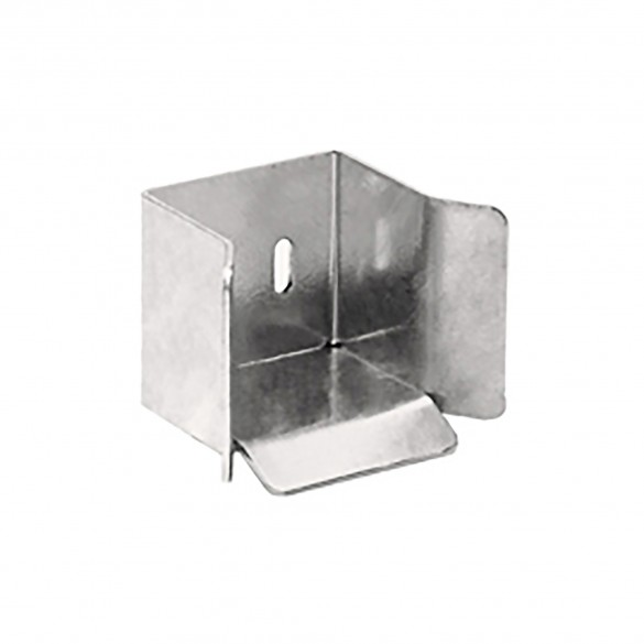 DuraGates Bottom End Cup CGI-346P (Stainless Steel) For Cantilever Track - Cantilever Sliding Gate Hardware