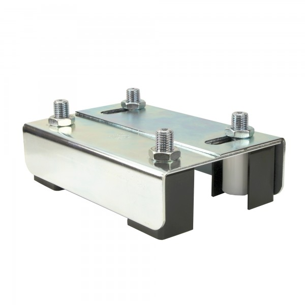 "DuraGates Adjustable Guiding Plate 255-220-C (Steel) For Up To 2 3/8"" Gate Frames - Cantilever Sliding Gate Hardware"