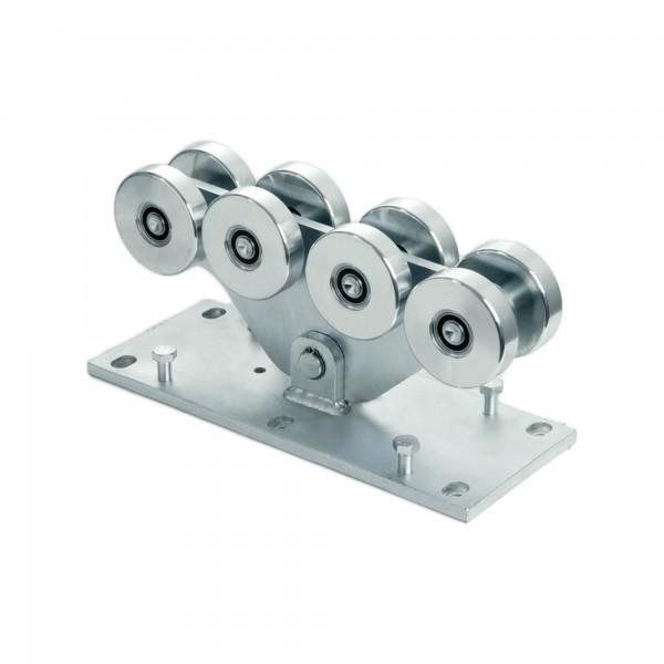 Duragets Large 8-Wheel Carriage Monobloc Body CGS-350.8G (Steel) - Cantilever Sliding Gate Hardware