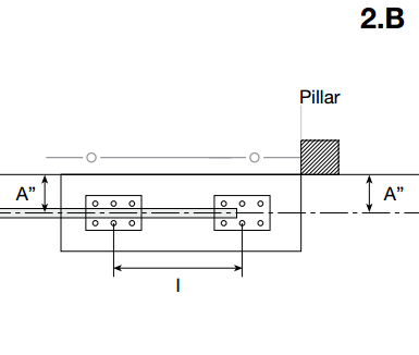 cantilever gate installation instructions step 2b drawing